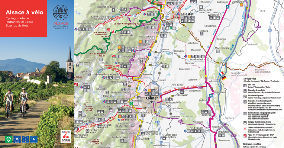 Cycle trails map Alsace